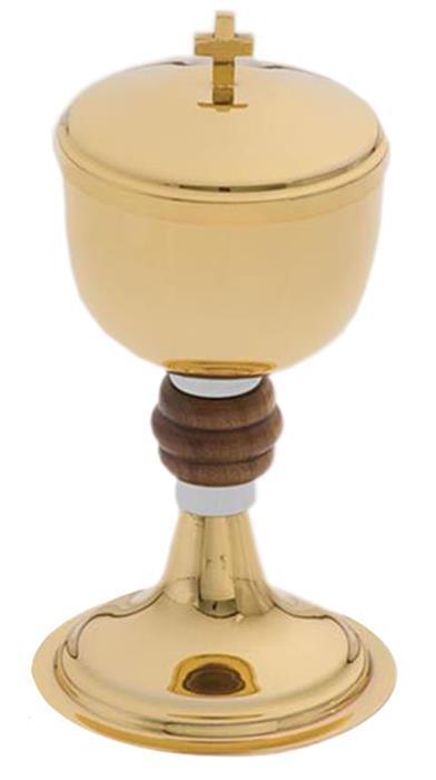 Cibório Miolo de Madeira Dourado Tota Ref.9114-0