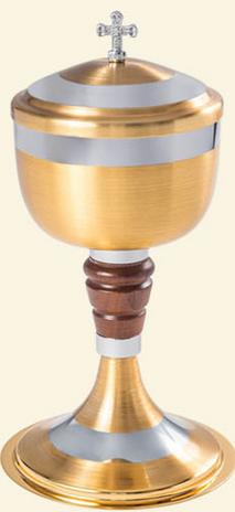 Cibório / Âmbula Dourada Fosca - Miolo de Madeira 9119-0
