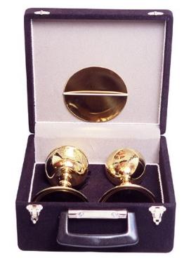 Estojo com Cálice e Âmbula Dourado Total 450-0