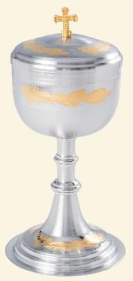 Cibório Detalhe Uva Dourado Interno Fosco 9116-0