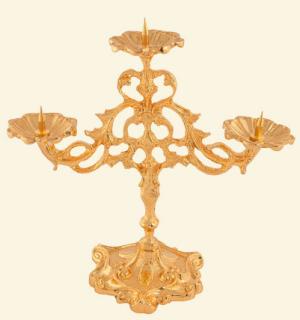 Castiçal 3 Velas Dourado Total - Pino-0