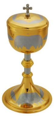Cibório Dourado Total com Desenho Uva e Trigo 9218-0