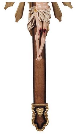 Crucifixo de Parede Ornado Resina 85cm-1918