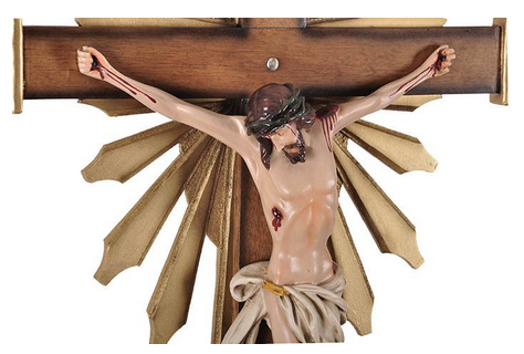 Crucifixo de Parede Ornado Resina 85cm-1916