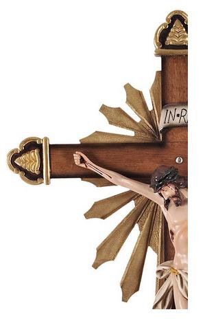 Crucifixo de Parede Ornado Resina 85cm-1917
