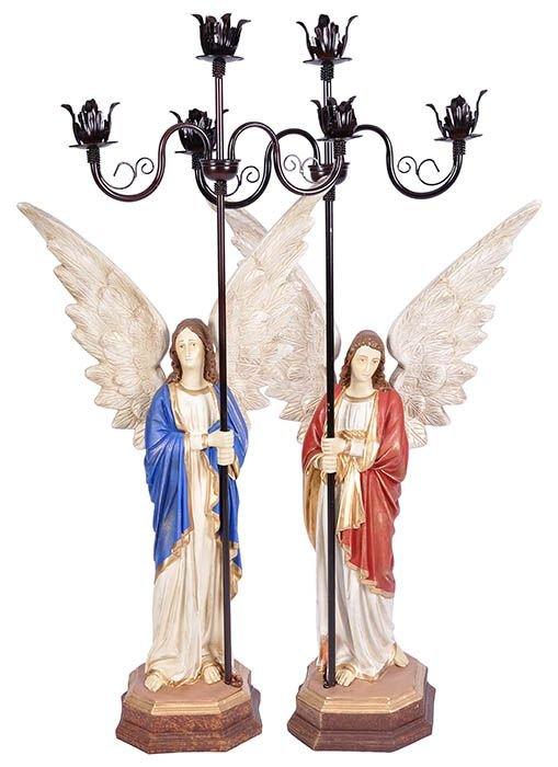 Conjunto Anjos Com Candelabro 90 cm-0