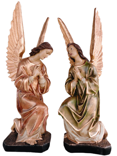 Conjunto Anjos Adorador 68 cm Resina-0