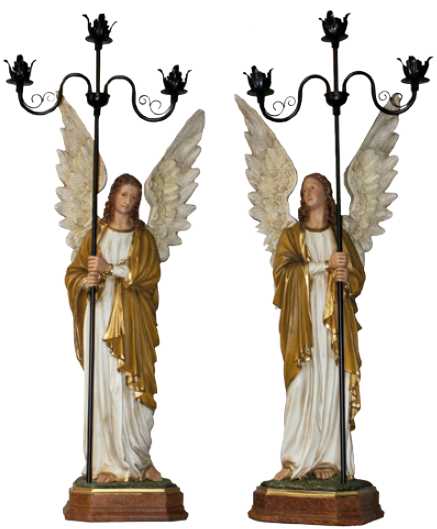 Conjunto Anjos Com Candelabro 115 cm -0