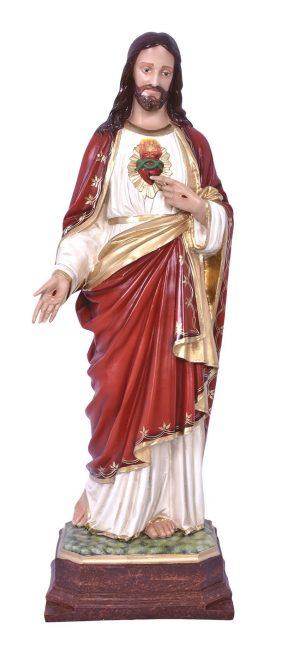 Imagem Sagrado Coração de Jesus Resina 100cm-0